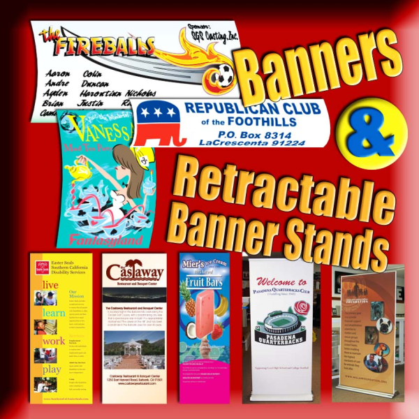 Banner and Retractable Banner Stands