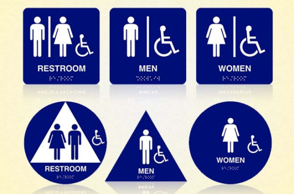 bathrooms signs. bathrooms signs