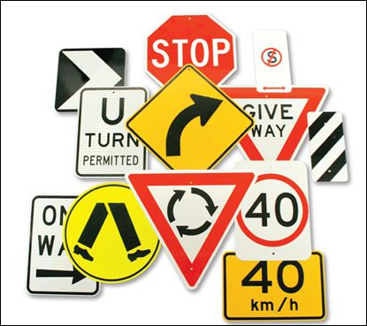 Traffic, Directional and Safety Signs