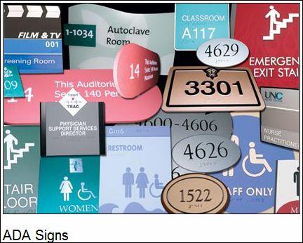 ADA Sign Images