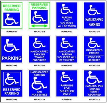 Handicapped parkig signs LA