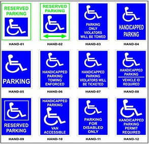 Handicapped parkig signs LA