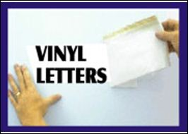 Vinyl Letters aka RTA Lettering and Signage
