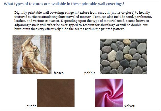 Wall Covering Graphics and Textures
