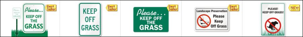 Keep off Grass Sample Signs resized 600