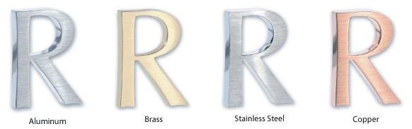 Solid Metal Letter Image