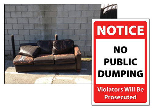 No Dumping Sign Image