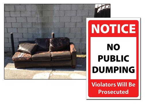 No Dumping Sign Image
