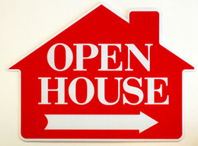 Open House Sign Image