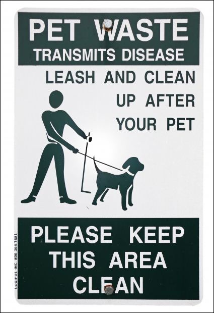 Pet Waste Sample Sign