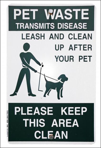 Pet Waste Sample Sign