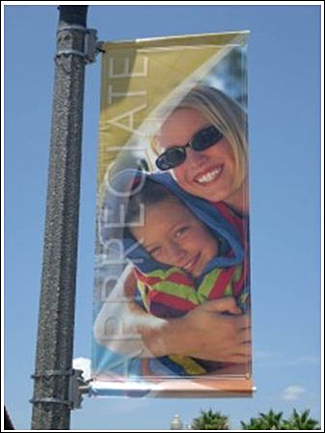 Hanging and pole banners for Burbank CA