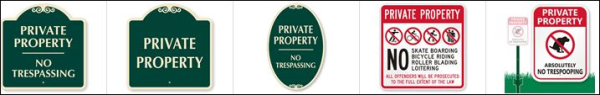 Private Property Sample Signs resized 600