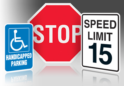 Handicap and Stop Sign Image