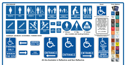 ADA Compliant Signs Pasadena and Glendale CA