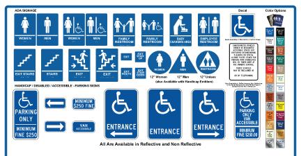 Types of ADA Signs Los Angeles