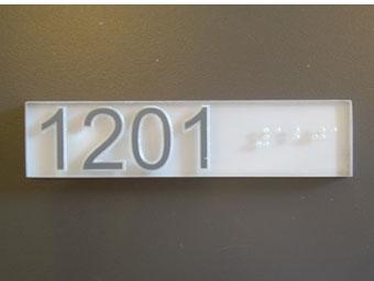 Braille II interior signs Los Angeles