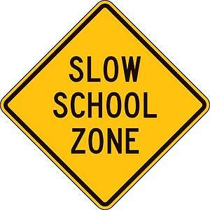 School Zone Safety Signs Burbank CA