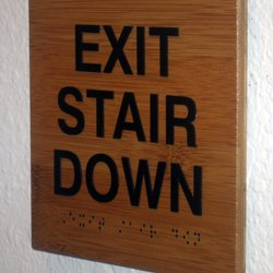 Custom made ADA and Braille Signs Orange County