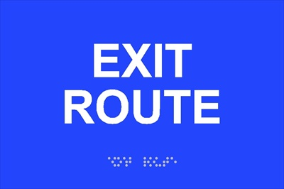 ADA Exit Route Signs for Los Angeles