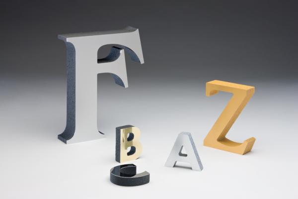 Foam Metal Letters