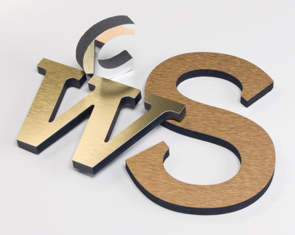 Metal Laminate Letters