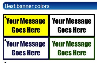 Best Sign and Banner Color Contrasts