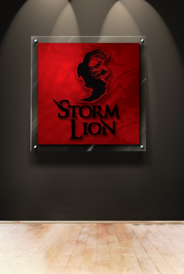 Storm Lion Lobby Sign