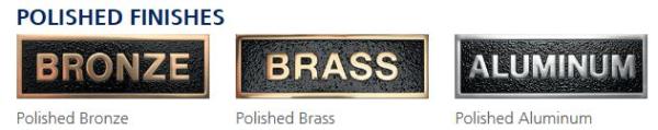 Bronze Brass Aluminum Plaques