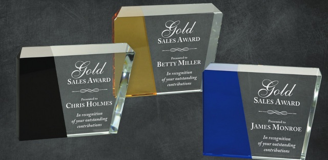 Laser Engraved Corporate Awards Los Angeles