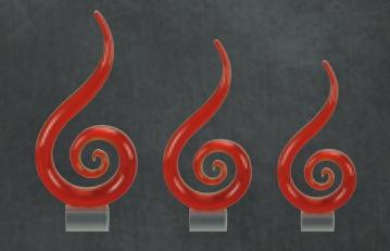 Custom Crystal Trophy Awards Los Angeles Fire Red Crystal