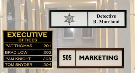 Laser Engraved Wall Signs Directories Los Angeles