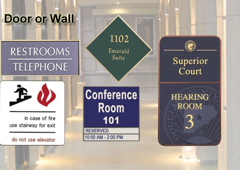 Laser Engraved Wall Room Signs Los Angeles