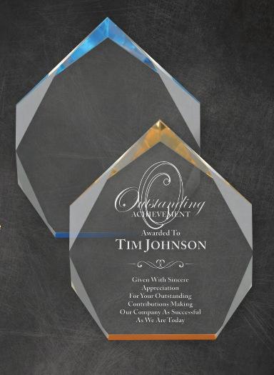 Acrylic Laser Engraved Employee Awards Los Angeles
