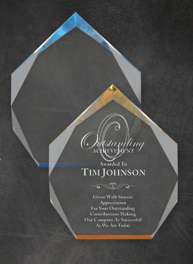 Acrylic Laser Engraved Employee Awards Los Angeles