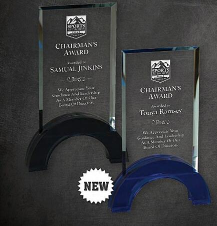 Crystal Laser Engraved Employee Awards Los Angeles