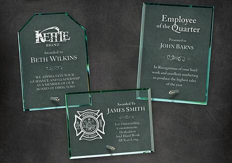 Glass Laser Engraved Employee Awards Los Angeles