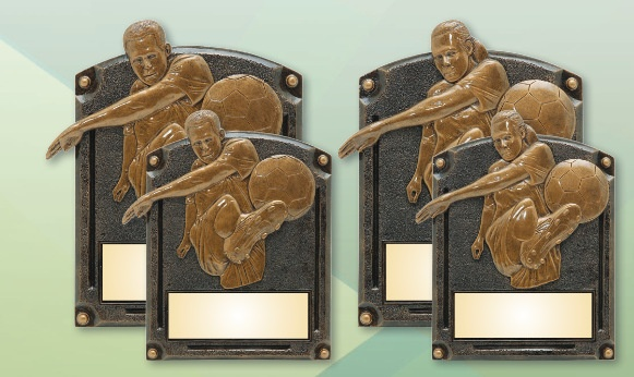 Laser Engraved Soccer Plaques Los Angeles
