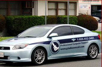 Vehicle graphics for visual marketing in Los Angeles