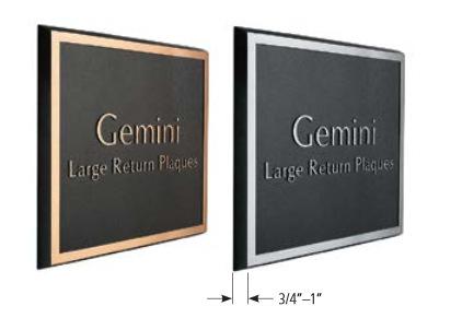 Large Return Gemini Plaques Burbank CA