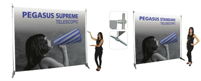 Budget Friendly Telescopic Trade Show Banners Los Angeles