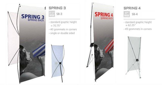 Budget Friendly Spring Back Trade Show Banners for Los Angeles