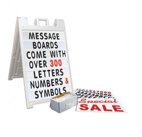 Plasticade message board signs Los Angeles