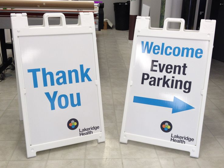A-Frame Sidewalk signs for Events in Los Angeles