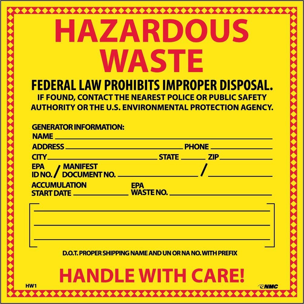 Hazardous waste safety signs Los Angeles
