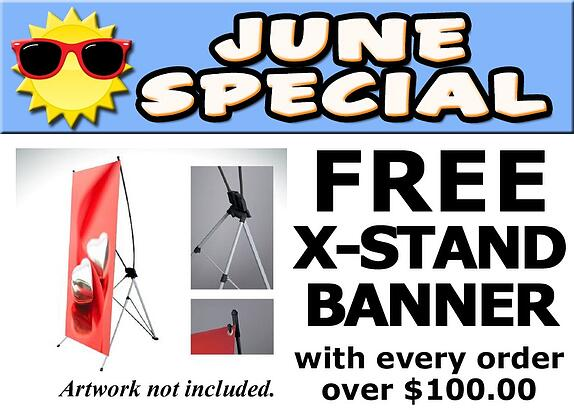 Free X-Banner Stands with Purchase in Los Angeles
