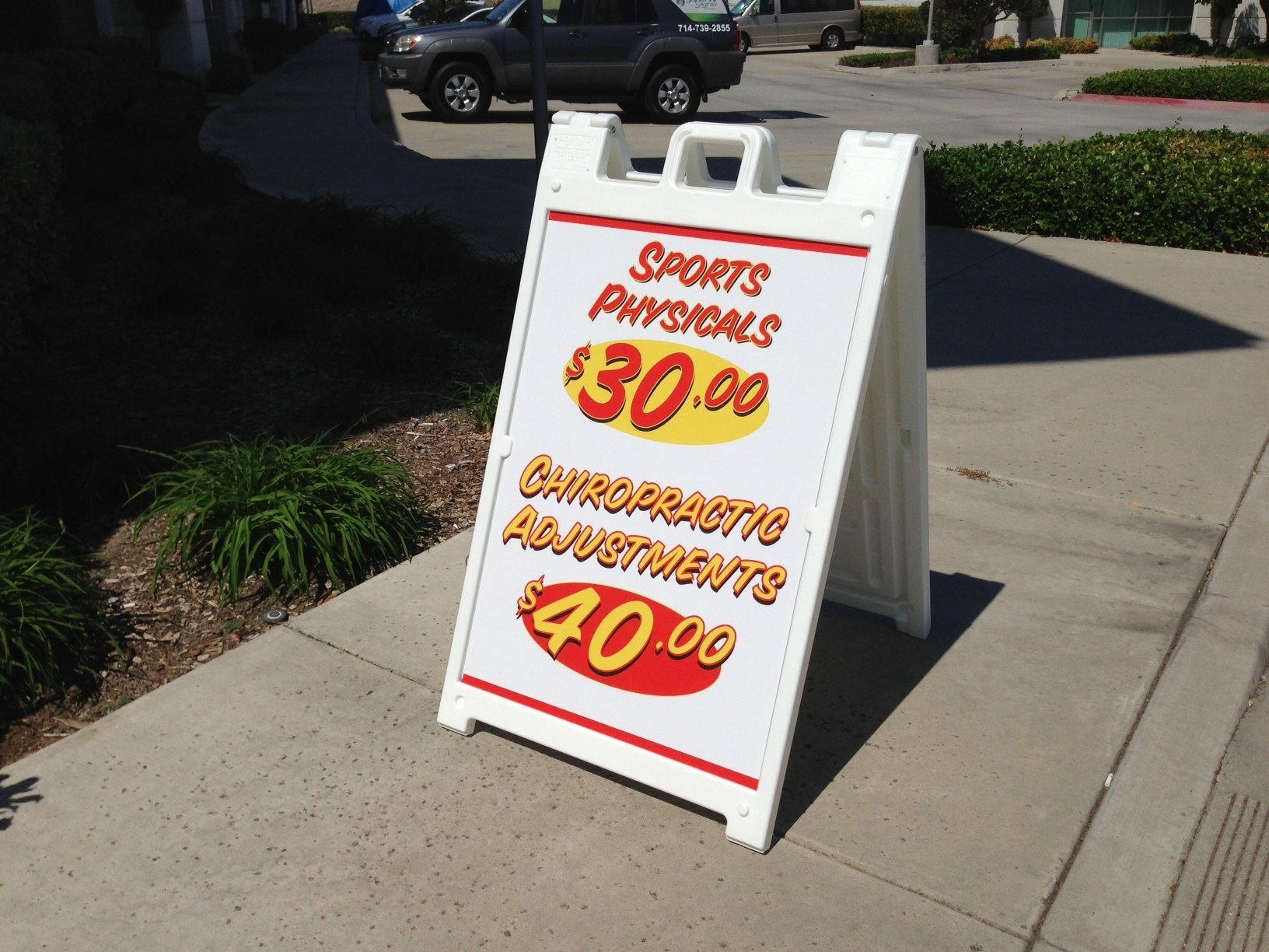 Promotional A-Frame Sidewalk Signs Los Angeles