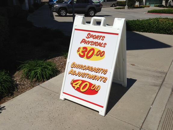 Promotional A-Frame Sidewalk Signs Los Angeles