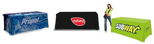 Trade Show Printed Table Throws | Los Angeles | Burbank | Glendale