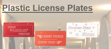Laser Engraved License Plates Los Angeles